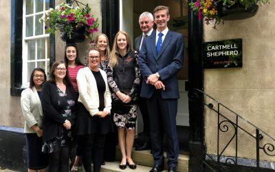 Awards delight for legal firm Cartmell Shepherd