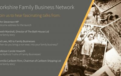 Event Details and Speakers announced for the launch of the Yorkshire Family Business Network.