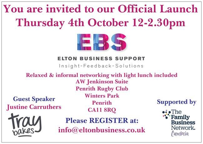 Elton Business Support to hold official Launch