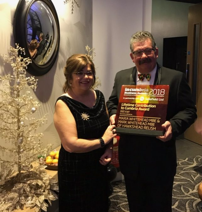 Cumbrian food producer collects life-time contribution award