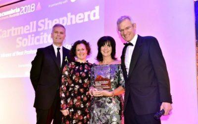 Top legal firm wins prestigious business award