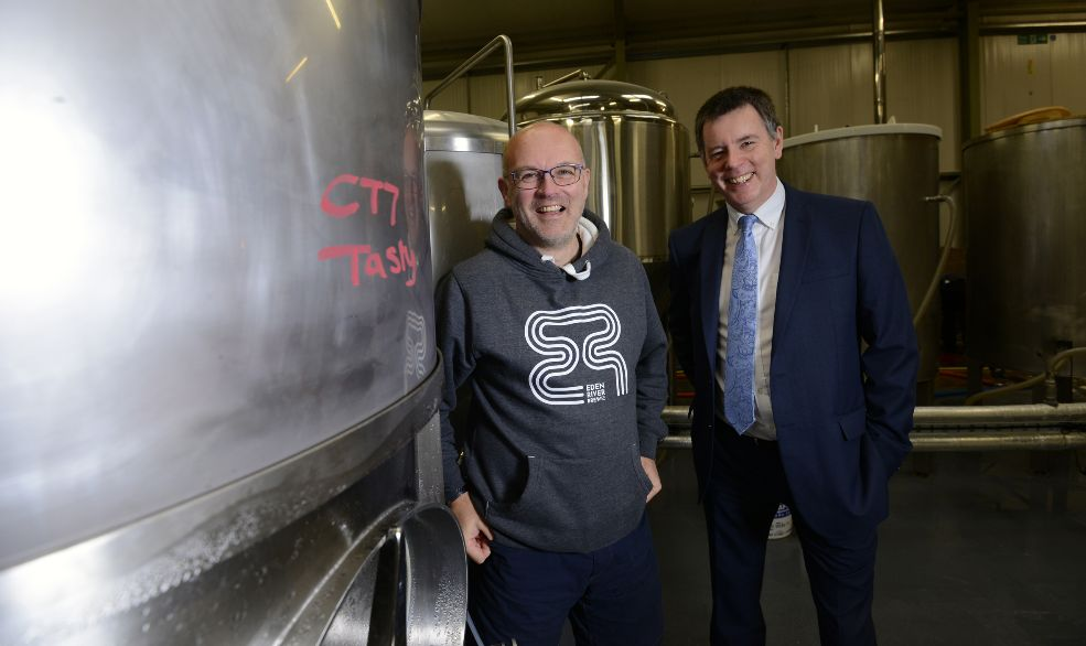 Brewery chief raises a glass as he celebrates quadruple business success
