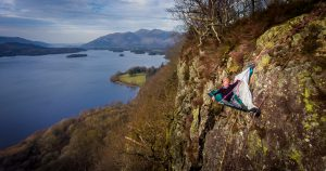 Andy Beeforth spends a night suspended above the Borrowdale Valley