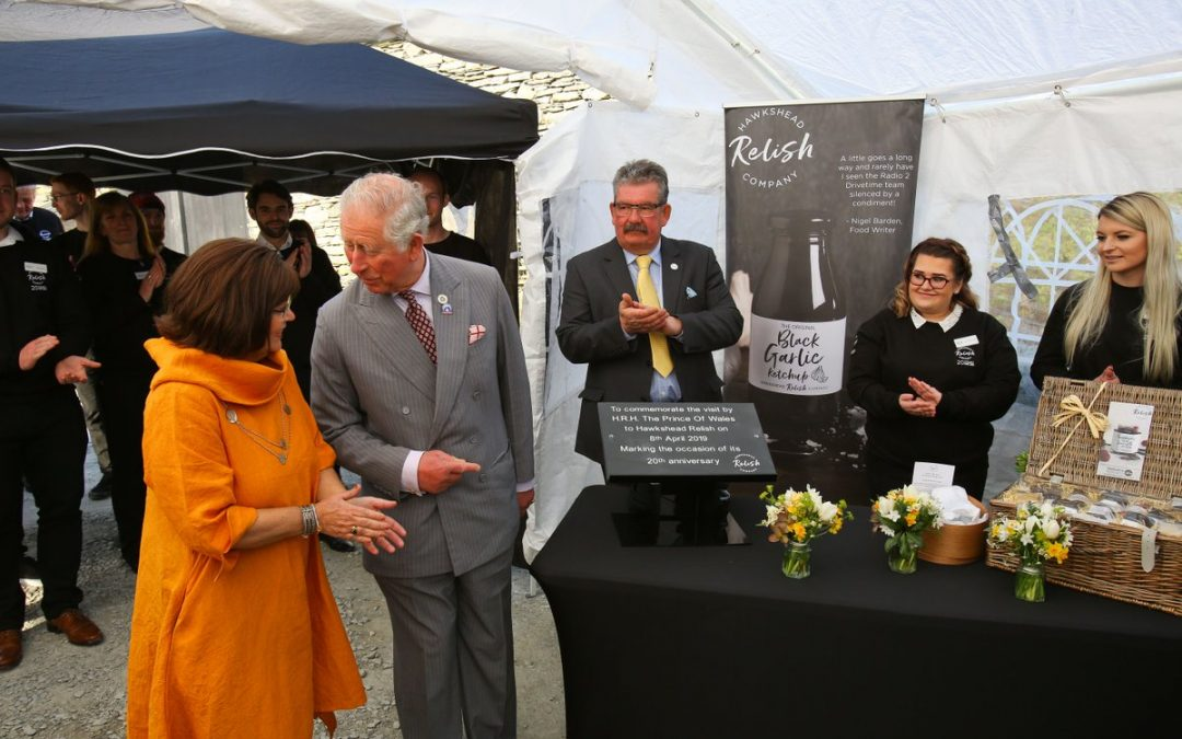 Royal Visit to Cumbria by H.R.H Prince Charles at Hawkshead Relish, 8 April 2019