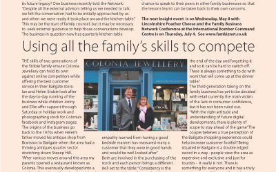 Sue's Family Business column in The Bailgate Independent, Lincoln