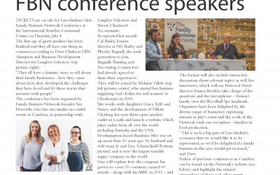 Sue's Family Business column in The Bailgate Independent, Lincoln – June Issue