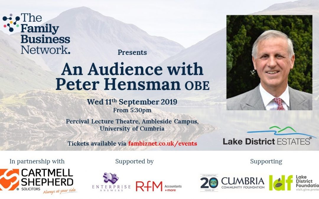 Family Business Network announces exclusive insight event with Chairman of prominent family-owned Cumbrian business