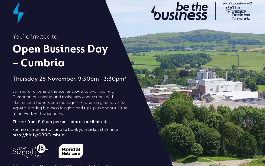 Be the Business Launches Open (to new ideas) Business Day in Cumbria