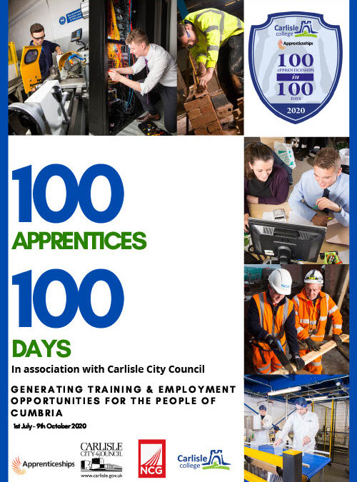 Carlisle College to launch skills initiative, 100 in 100, to help school-leavers in response to COVID-19