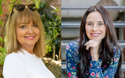 New recruits Juliet Thompson and Nadea Van Der Merwe at Investors in Community