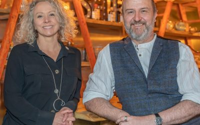 Andy & Zoe owners of Cumbria-based family business Shed 1 Distillery